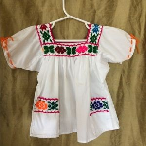 Other - Girls Boho Mexican Top Blouse